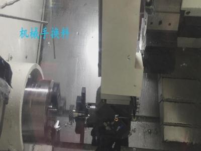 齿轮加工车床自动上下料机械手|在线检测+车床刀具自动补偿