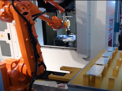 手机中框CNC加工上下料机器人
